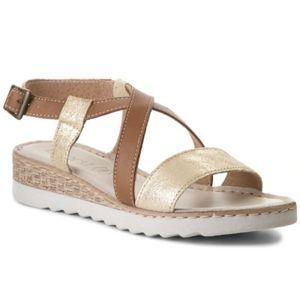 Sandály Lasocki WE22 Pravá kůže - lesklá kůže,Přírodní kůže - semiš,Přírodní kůže - lícová