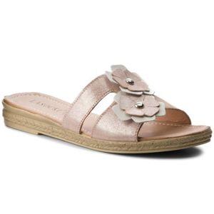 Pantofle Lasocki EST-2071-07 Pravá kůže - lesklá kůže,Přírodní kůže - semiš