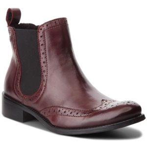 Kotníkové boty Lasocki D266 Přírodní kůže - lícová