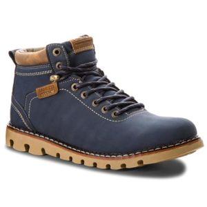 Šněrovací obuv Lanetti MP07-16777-01 Ekologická kůže