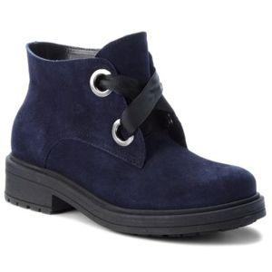 Šněrovací obuv Lasocki D790 Přírodní kůže (useň) - Semiš