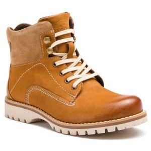 Šněrovací obuv Lasocki WI16-218145 Přírodní kůže - nubuk,Přírodní kůže - semiš,Přírodní kůže - lícová