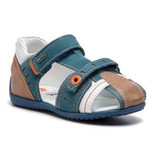 Sandály Lasocki Kids CI12-MOCCA-24 Přírodní kůže - nubuk,Přírodní kůže - lícová