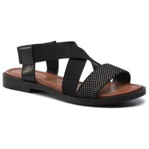 Sandály Lasocki WI23-ASTANA-01 Textilní materiál,Přírodní kůže - lícová