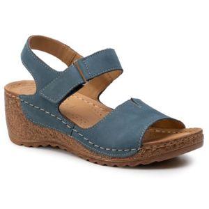 Sandály Lasocki RST-2091-01 Přírodní kůže - nubuk