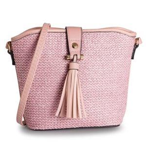 Dámské kabelky Jenny Fairy RH1033 Materiál - sláma,Textilní materiál,Ekologická kůže