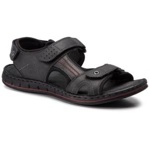 Sandály GO SOFT MI18-ESSAAR-01 Přírodní kůže - nubuk,Textilní materiál
