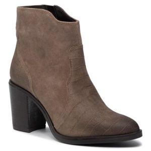 Kotníkové boty Lasocki N028 Přírodní kůže (useň) - Semiš