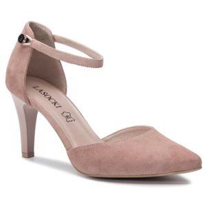 Sandály Lasocki 2568-6 Přírodní kůže - semiš