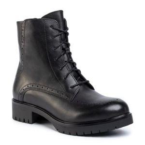 Šněrovací obuv Gino Rossi RST-DSI548 Přírodní kůže (useň) - Lícová