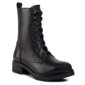 Šněrovací obuv Gino Rossi RST-DTI740 Přírodní kůže (useň) - Lícová