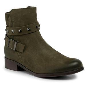 Kotníkové boty Lasocki 70090-15 Přírodní kůže - nubuk,Přírodní kůže - lícová