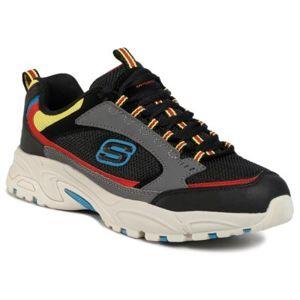 Sportovní Skechers Alertness 999873_BKRD MIX Textilní,Ekologická kůže