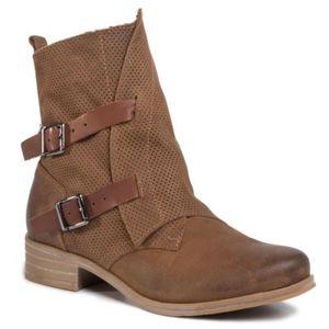 Kotníkové boty Lasocki ARC-70409-12 Přírodní kůže - nubuk,Přírodní kůže - lícová