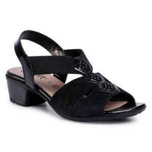 Sandály GO SOFT WI23-BETTY-03 Pravá kůže - lesklá kůže,Přírodní kůže - lakovaná,Přírodní kůže - semiš