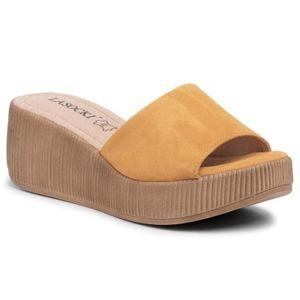 Pantofle Lasocki 2214-04 Přírodní kůže - semiš