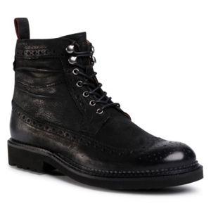 Šněrovací obuv Gino Rossi MI08-C773-770-01 Přírodní kůže - nubuk,Přírodní kůže - lícová