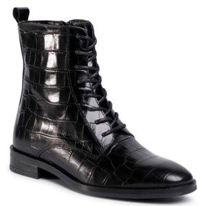 Šněrovací obuv Gino Rossi I020-30124DUL Přírodní kůže - lícová